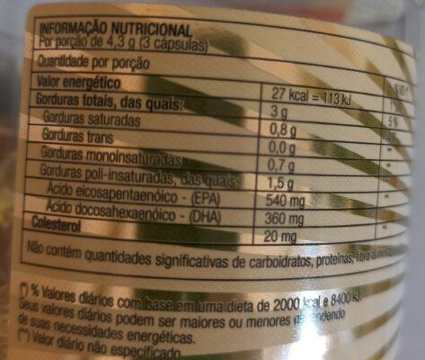 Imagem do rótulo do produto omega3